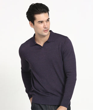 Knit Long Sleeve Polo Shirt (OC008)