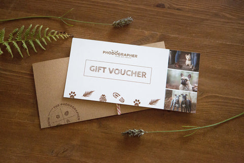 Gift Voucher - 'Muddy Good Buddies' dog photography experience + product credit
