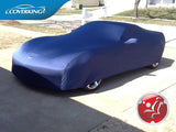 Coverking Satin Stretch Custom Fit Car Covers for Chevy Corvette with C6 Flags Embroidery included