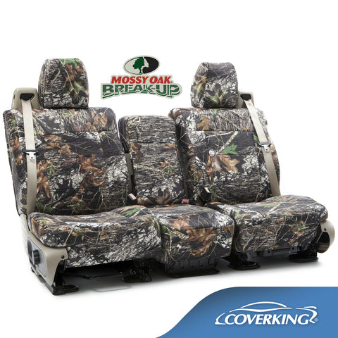 Coverking Chevy Silverado 1500 2500 3500 Custom Fit Seat Covers in Mossy Oak Camo pattern
