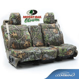 Coverking Jeep Wrangler Custom Fit Front & Rear Seat Covers in Mossy Oak Camo pattern
