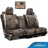 Coverking Jeep Wrangler Custom Fit Seat Covers in Mossy Oak Camo pattern