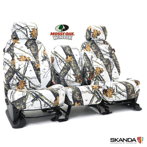 Coverking Skanda Mossy Oak Winter Camo Front Seat Covers - Made to Order