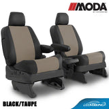 Coverking MODA Leatherette Custom Fit Front & Rear Seat Covers for FORD