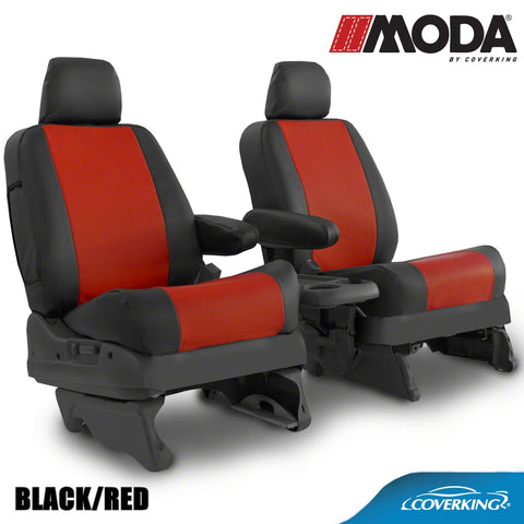 Coverking MODA Leatherette Custom Fit Front and Rear Seat Covers for JEEP