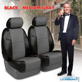 Coverking Premium Leatherette Rear Seat Covers for GMC Sierra
