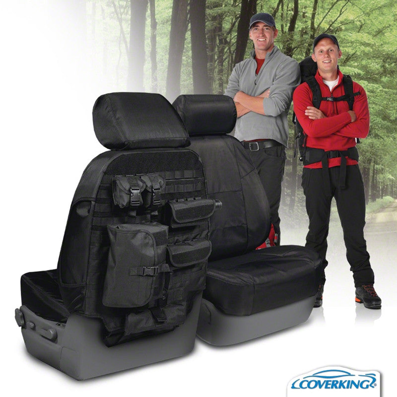 Coverking Chevy Silverado Custom Fit Ballistic Tactical Seat Covers With MOLLE Storage System