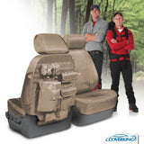 Coverking Toyota Tundra Custom Fit Ballistic Tactical Seat Covers with MOLLE storage system