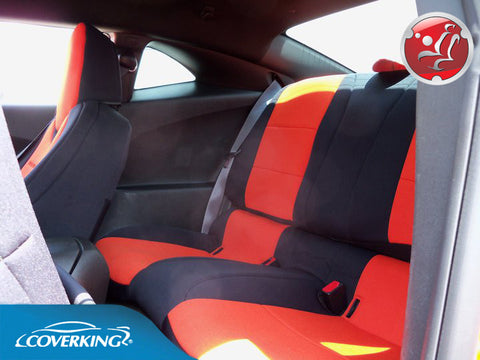 Coverking CR-Grade Neoprene Custom Fit REAR Seat Covers for Chevy Camaro 5