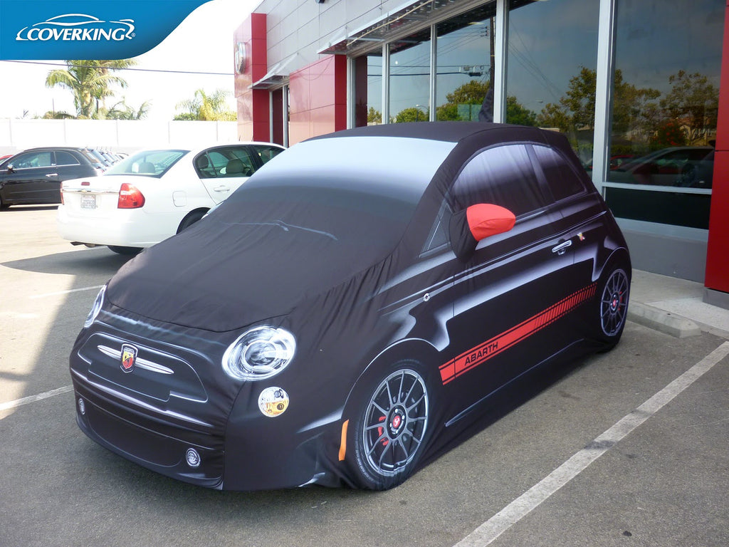Fiat Abarth Custom Fit Graphic Car Cover from Coverking – PREMIUM