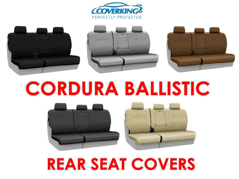 Coverking Cordura Ballistic Custom Fit Rear Seat Covers for Toyota Tacoma