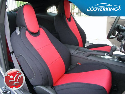 Coverking CR-Grade Neoprene Custom Fit Seat Covers for Chevy Camaro 5 Full Set