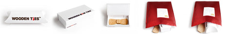 Gift packaging for wooden bow ties - The wooden Bow Tie company