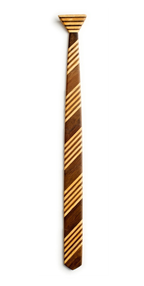 Skinny School boy Dark Wooden Tie