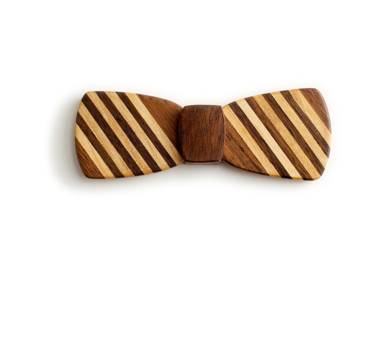 Batwing Wood Bow Tie – Schoolboy dark
