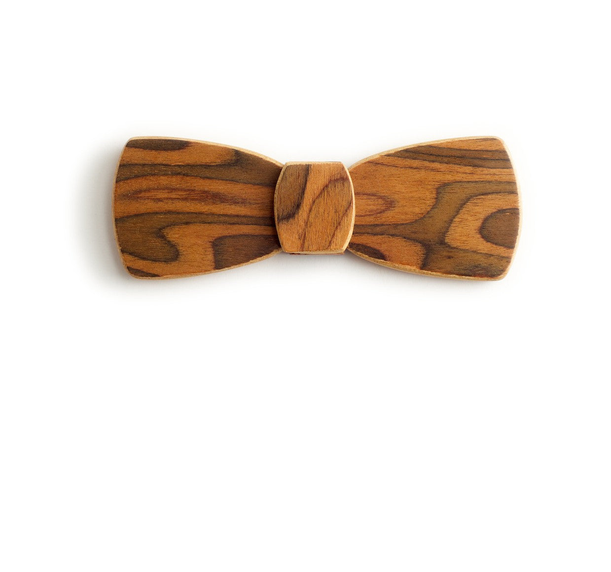 Batwing Wood Bow Tie - Tiger Skin Dark