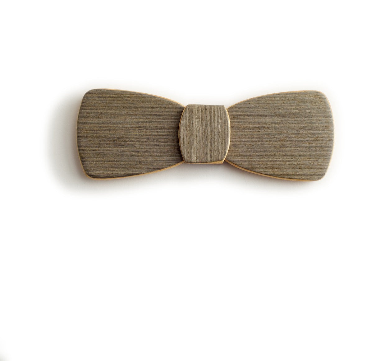Batwing Wood Bow Tie – White noise