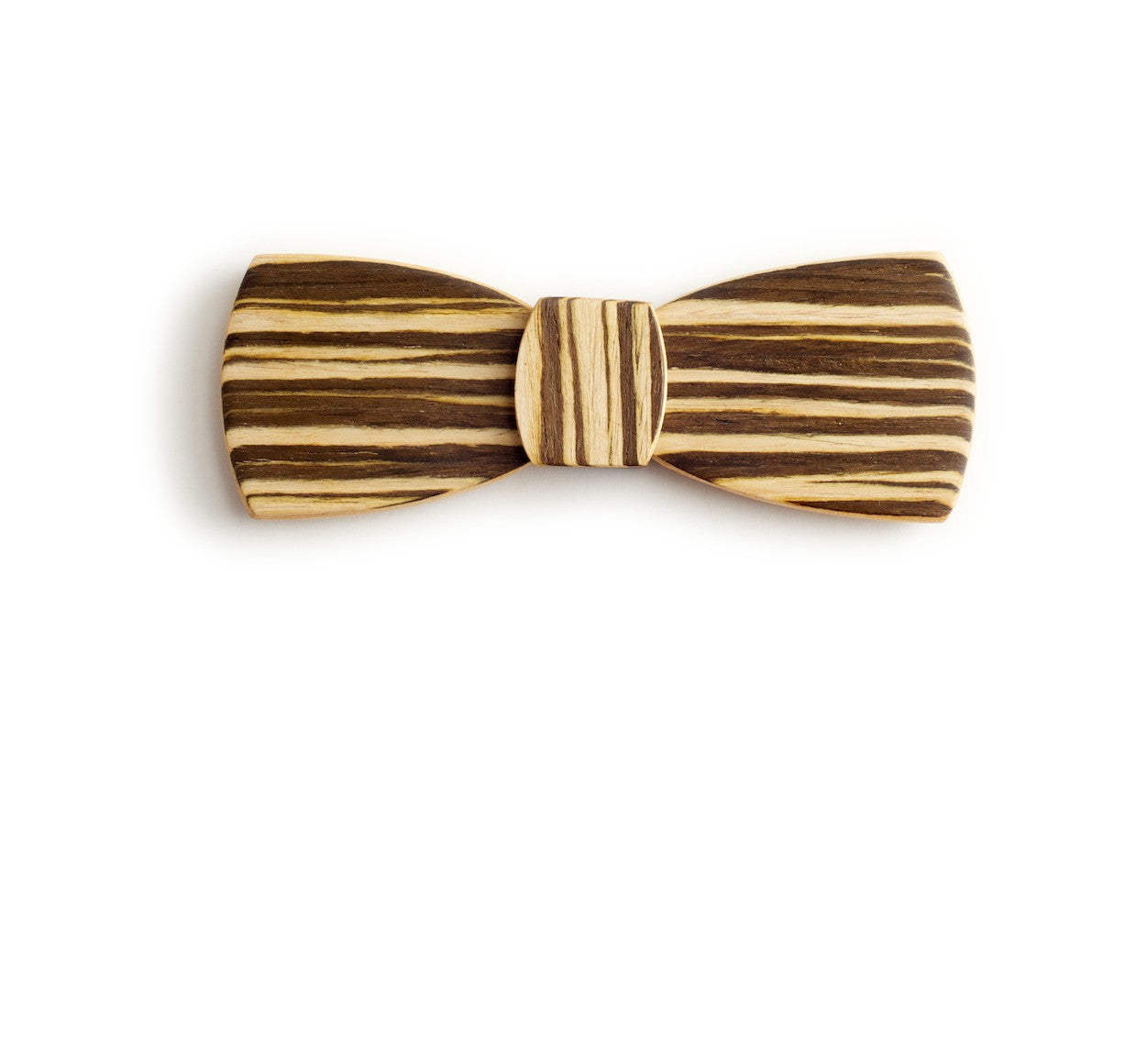 Batwing Wood Bow Tie - Chocolate Sandwich