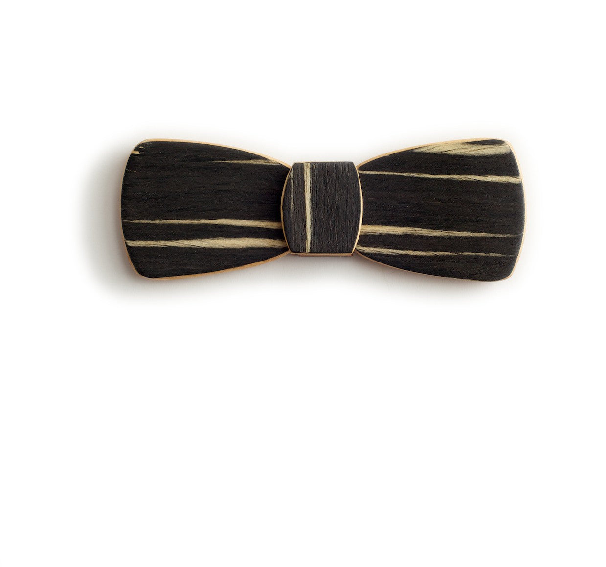 Batwing Hipster Wood Bow Tie - Dawn
