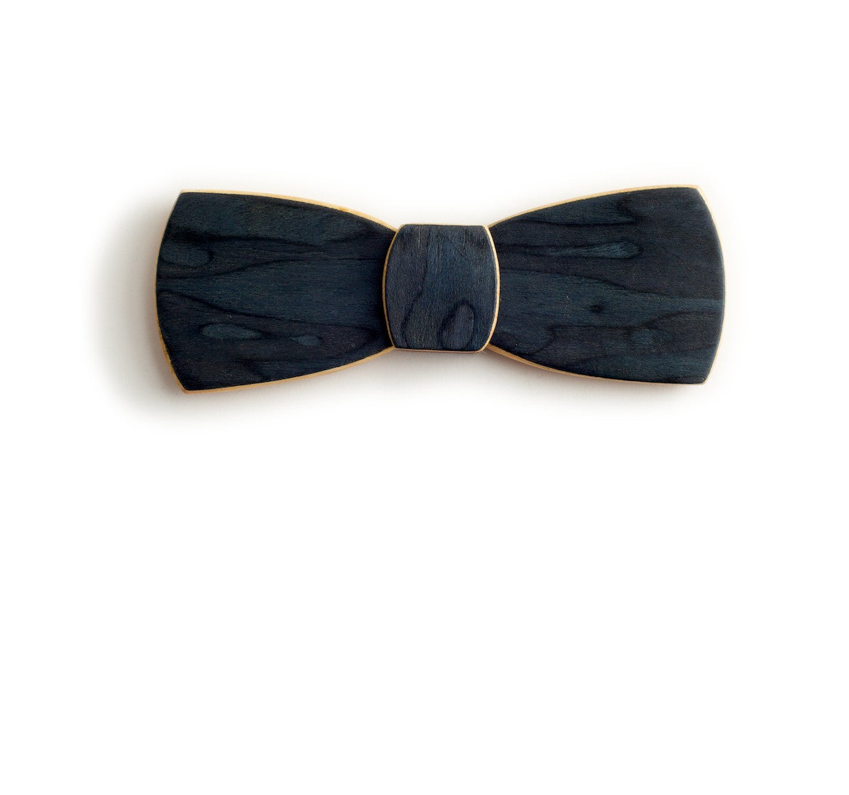 Batwing Wood Bow Tie - Deep Sea