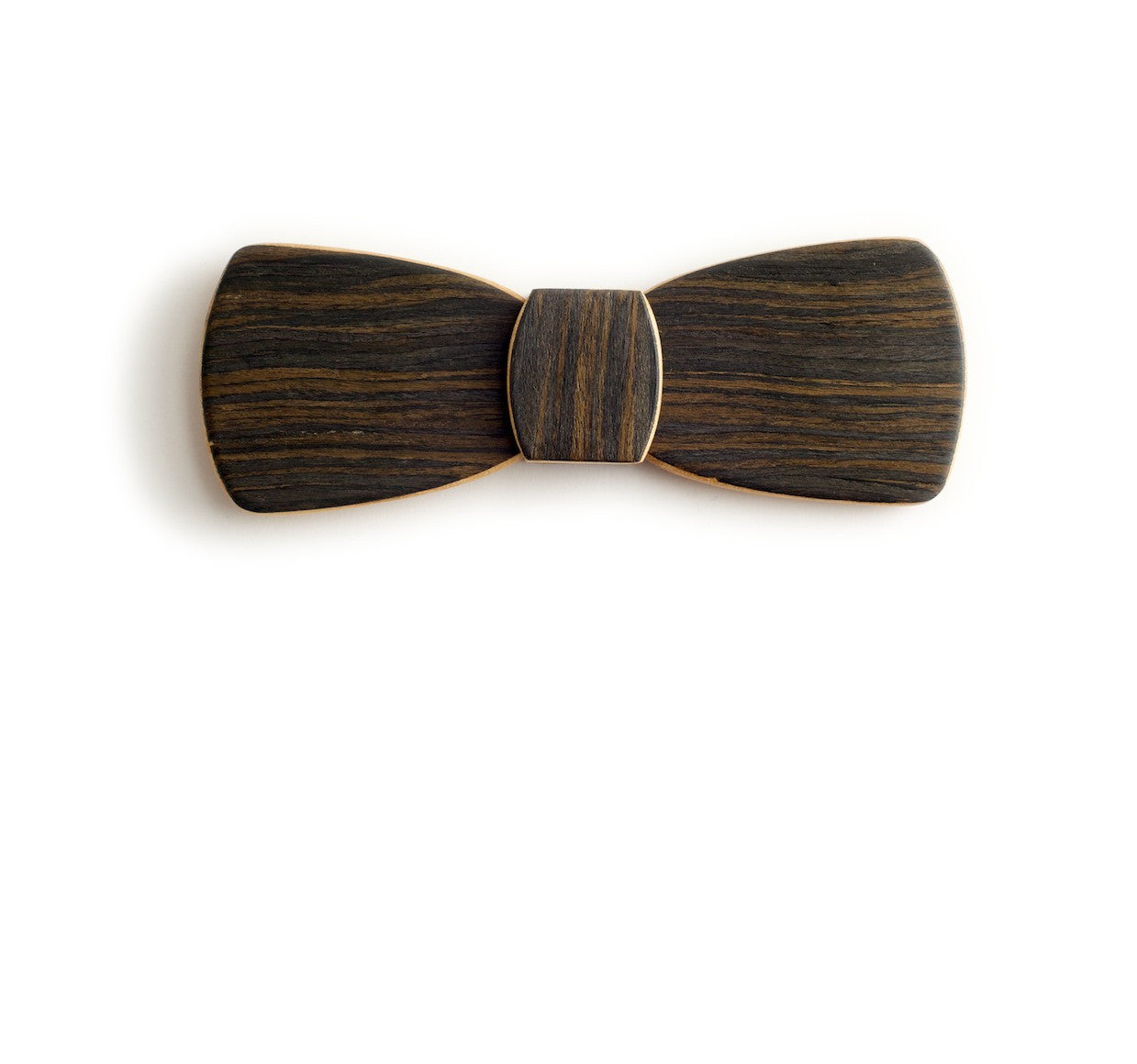 Batwing Hipster Wood Bow Tie - Night Drive
