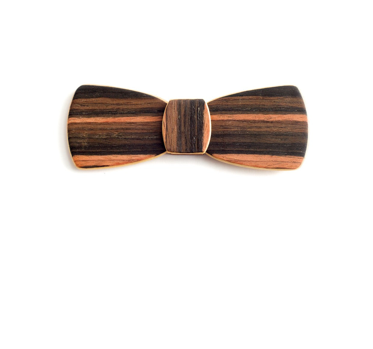 Batwing Wood Bow Tie - Tropical Night