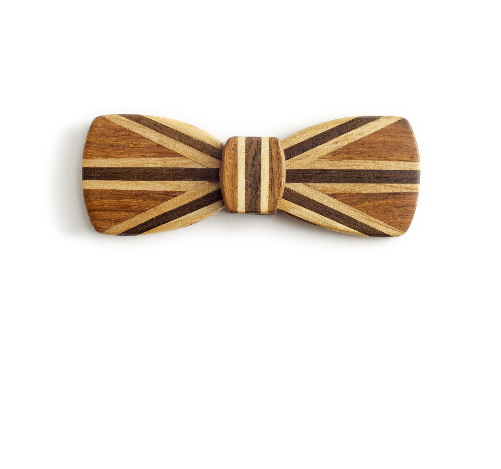 Batwing Hipster Wood Bow Tie - Union Jack