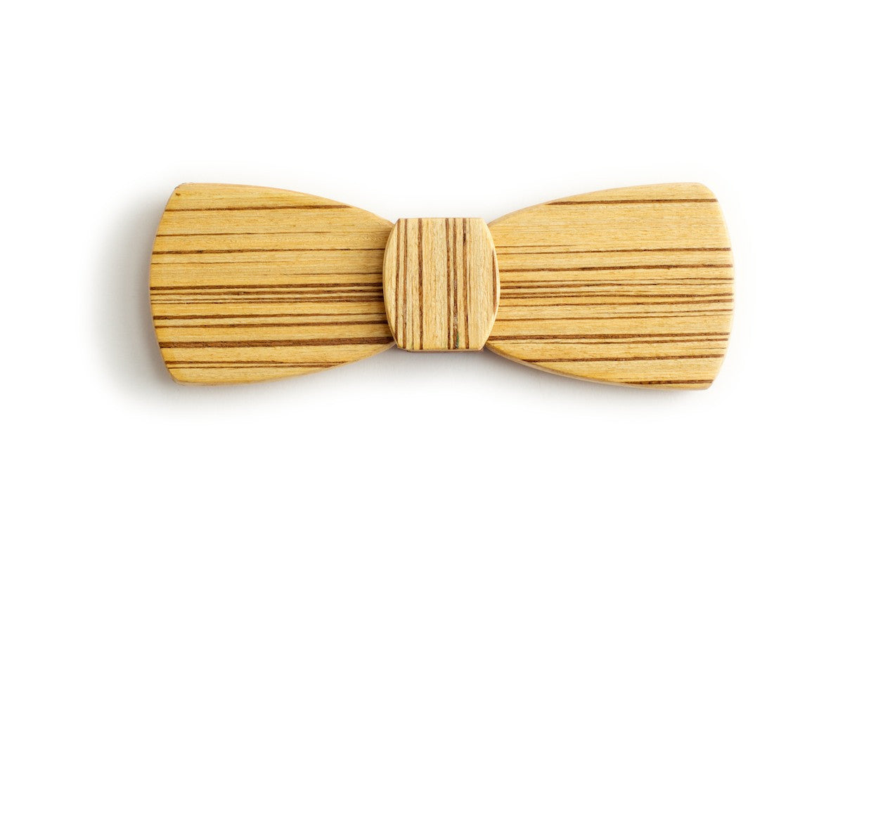 unique original quirky gift for men hipster wood bow tie zebrano light