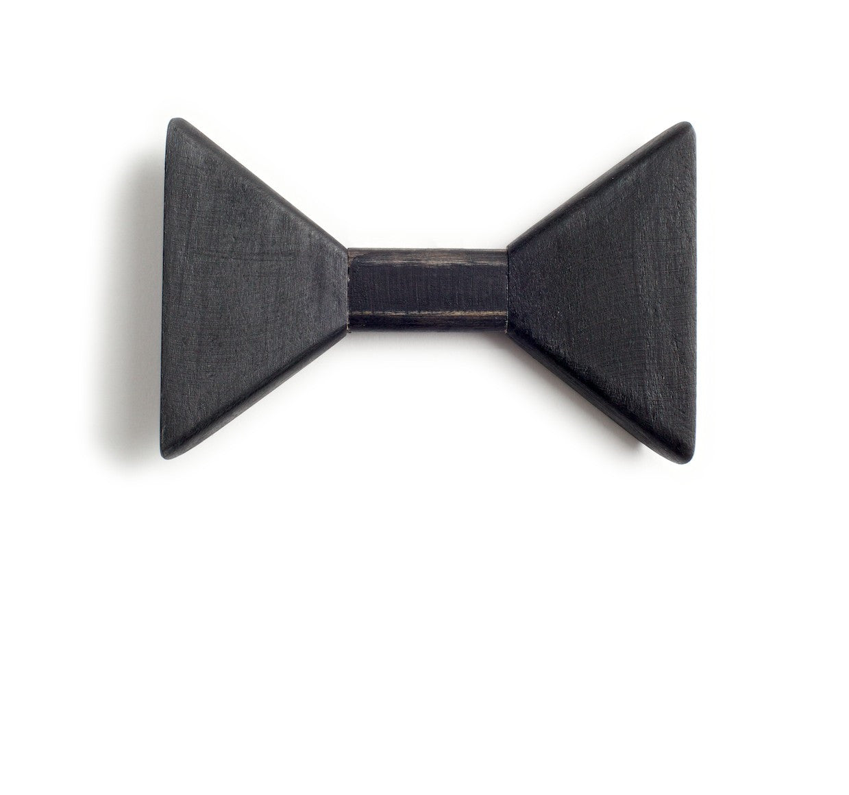 Sharp.c Black Wooden Bow Tie