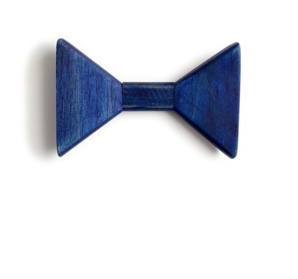 Sharp.c Blue Wooden Bow Tie