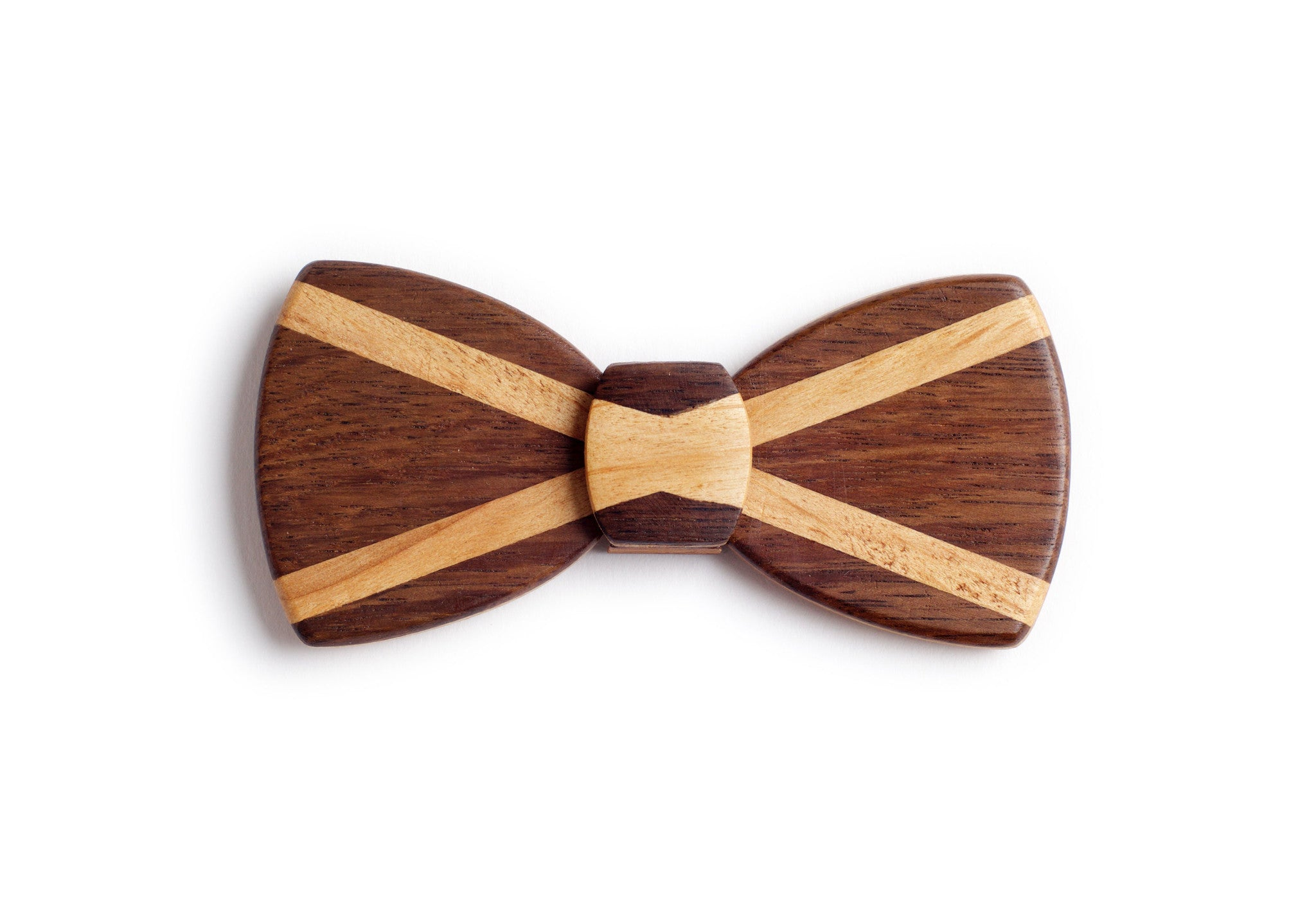 Butterfly Hipster Wood Bow Tie - Scottish Flag