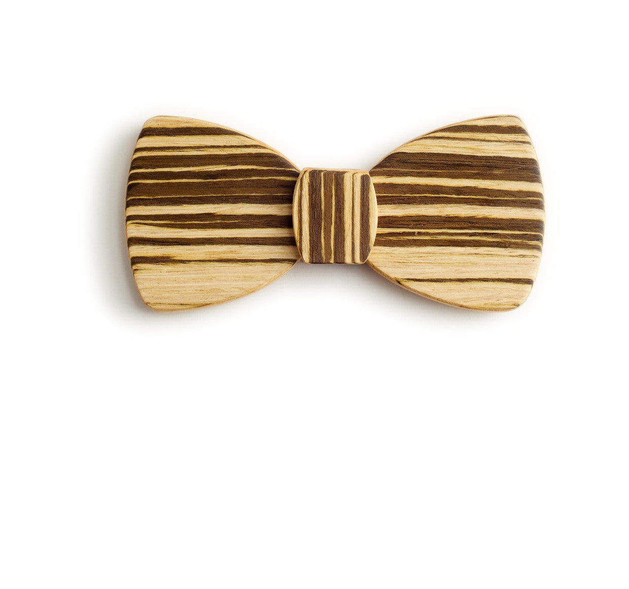Butterfly Wood Bow Tie - Chocolate Sandwich