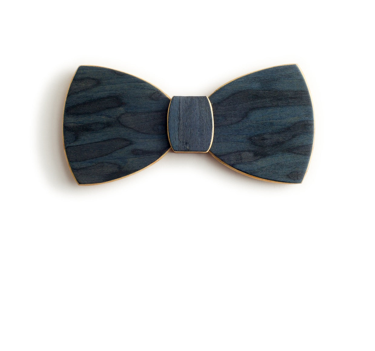 Butterfly Wood Bow Tie - Deep sea