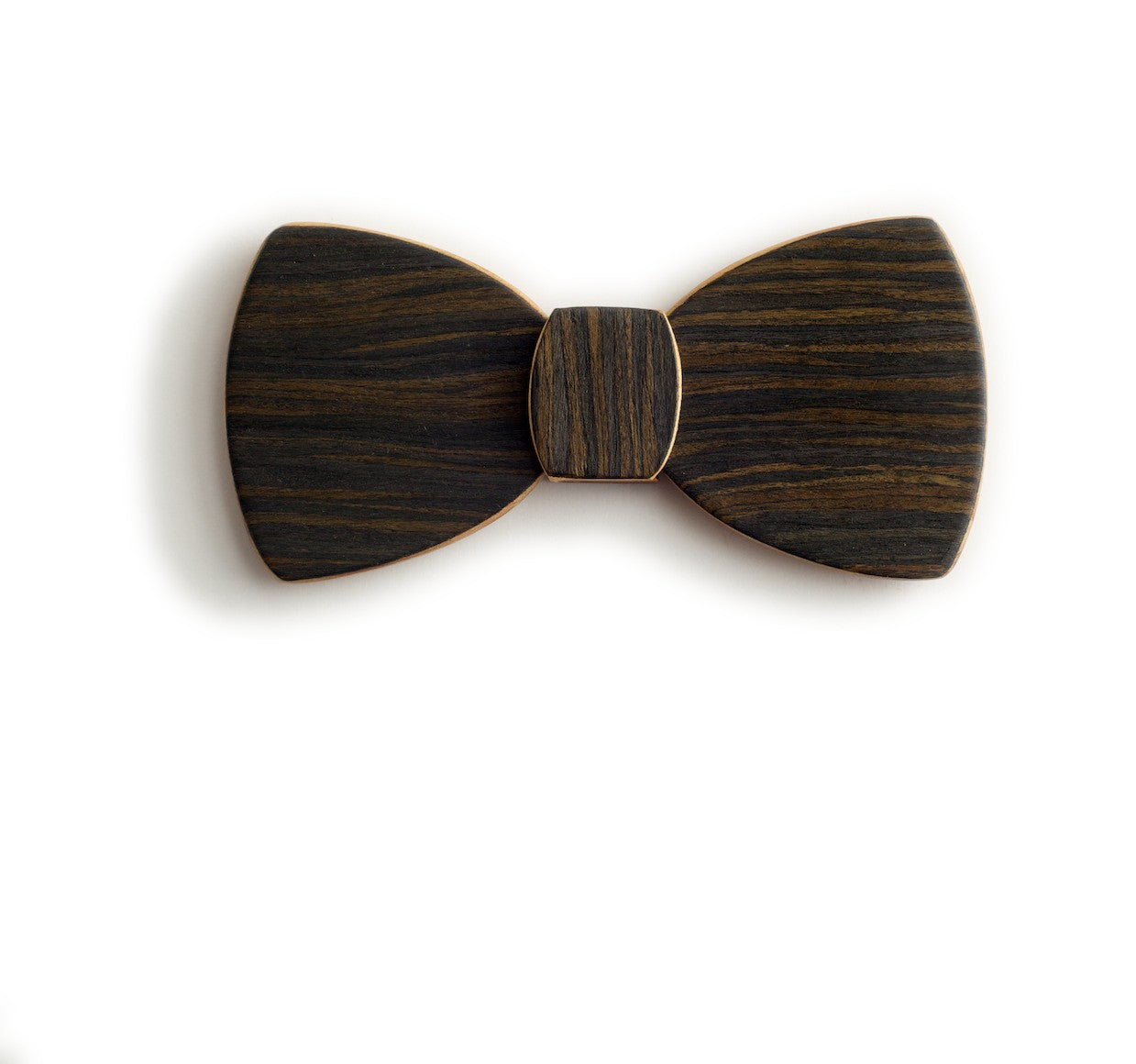 Butterfly Wood Bow Tie - Night Drive
