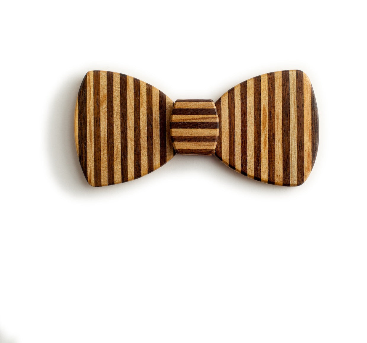 Butterfly Wood Bow Tie - Pinstripe