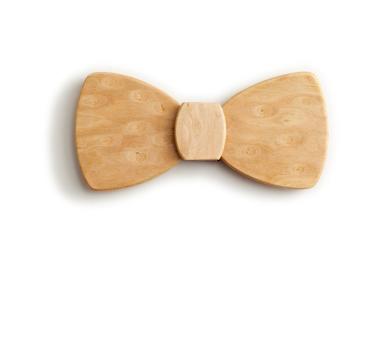 Butterfly Wood Bow Tie - Raindrops