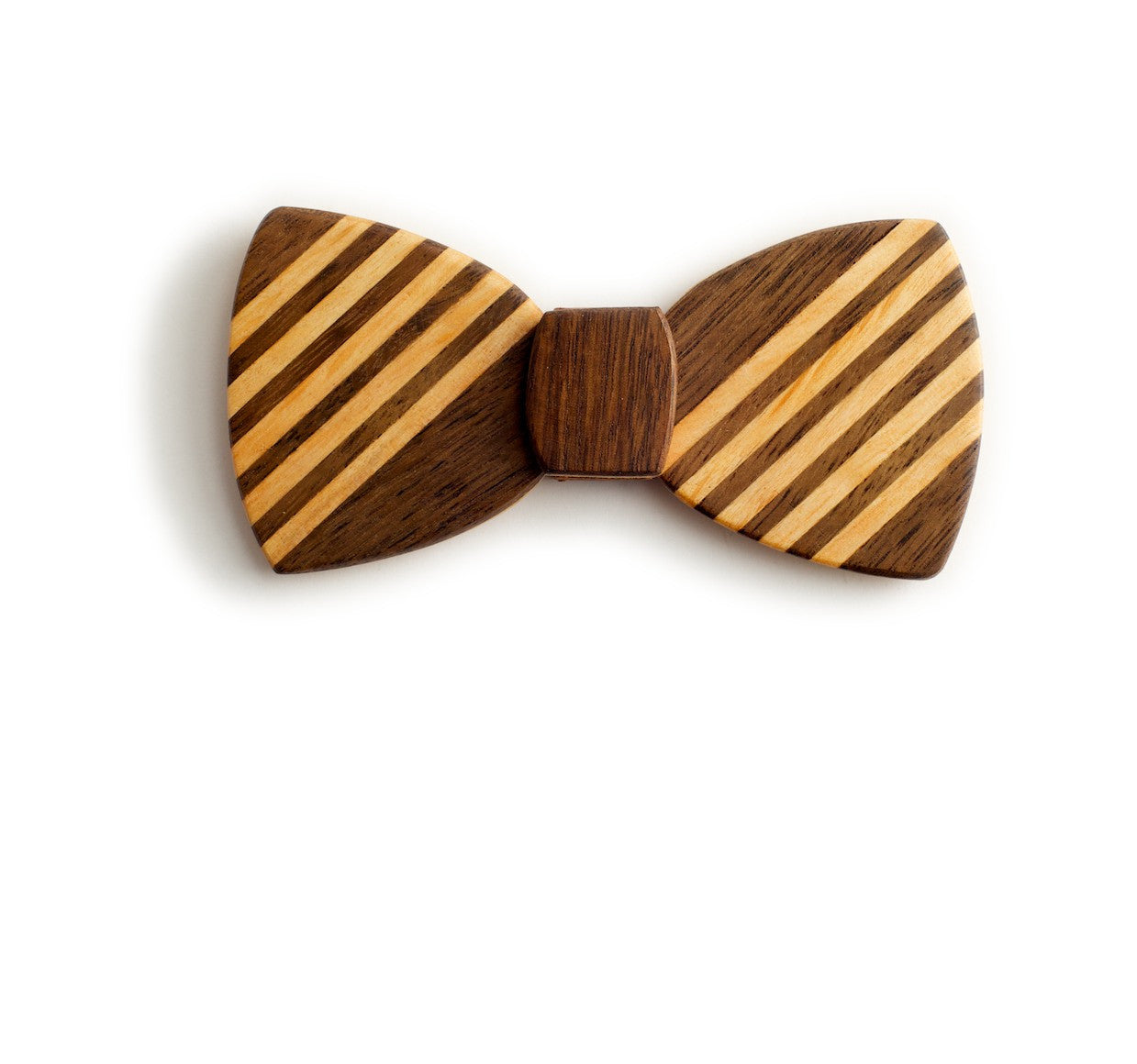 Butterfly Wood Bow Tie - Schoolboy dark