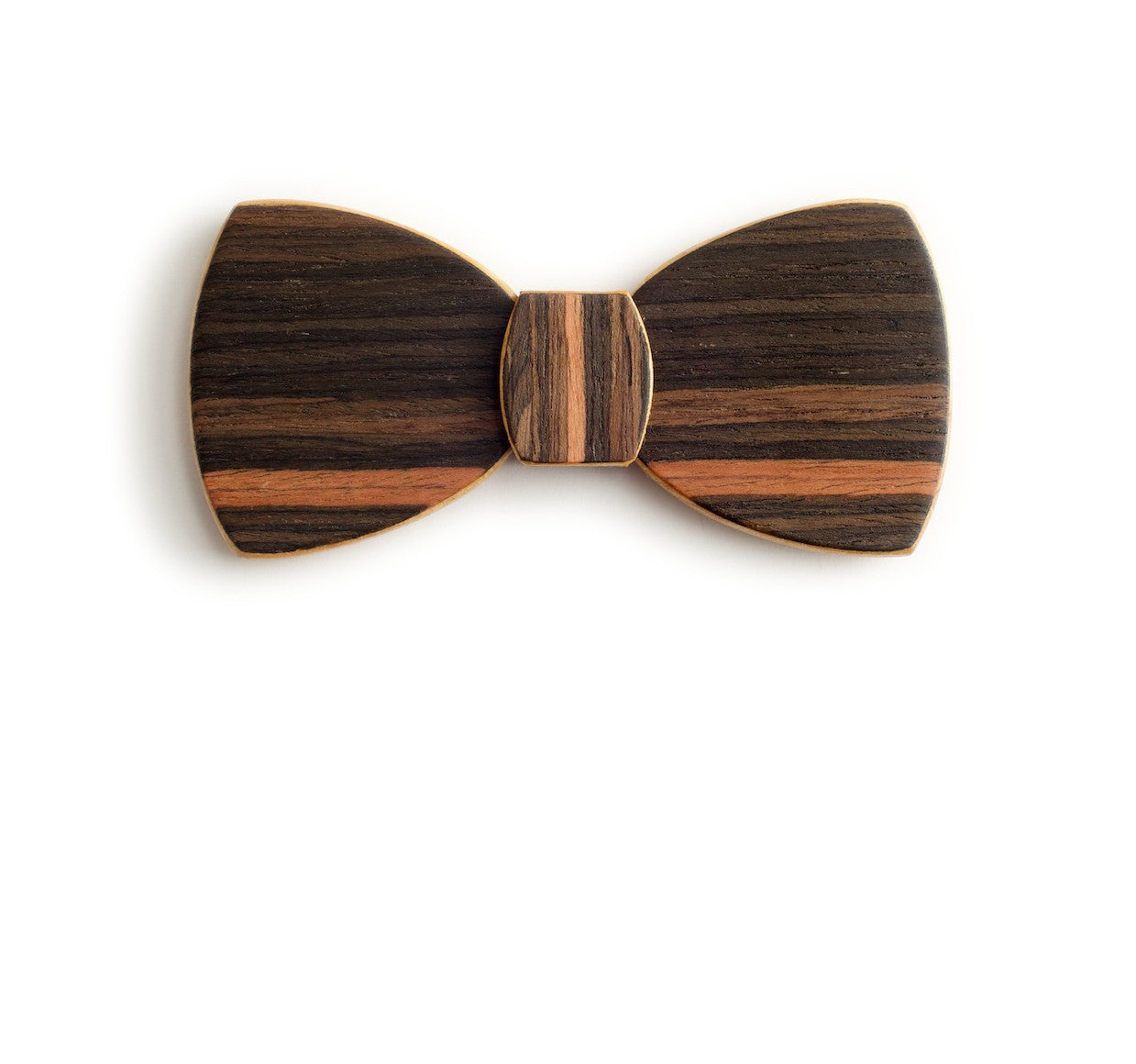 Butterfly Wood Bow Tie - Tropical Night
