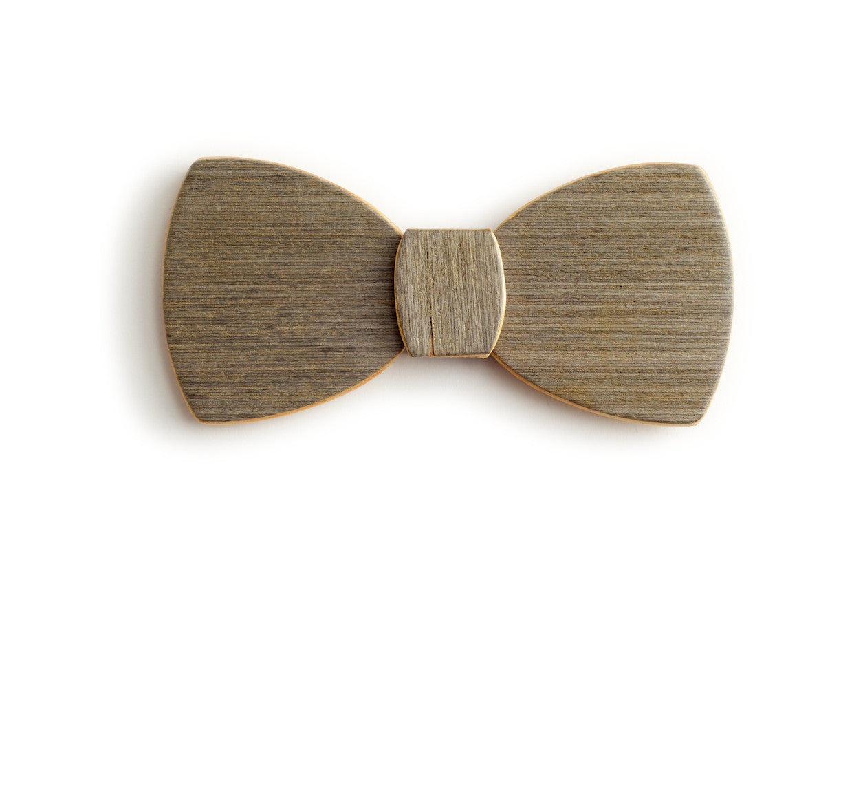 Butterfly Wood Bow Tie - White noise
