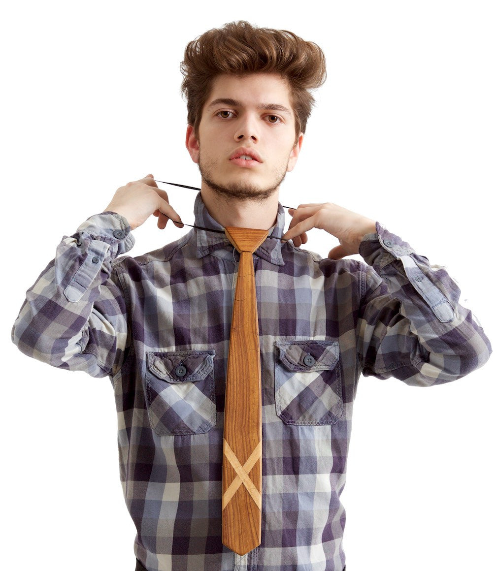 Classic Scottish Light Wooden Tie