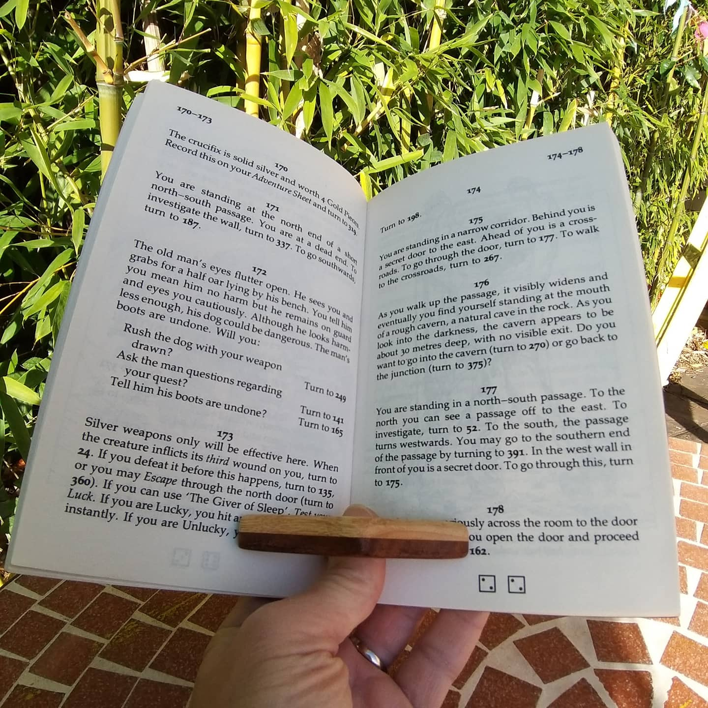 Wooden Book Page Holder. Page Prop Reading Aid