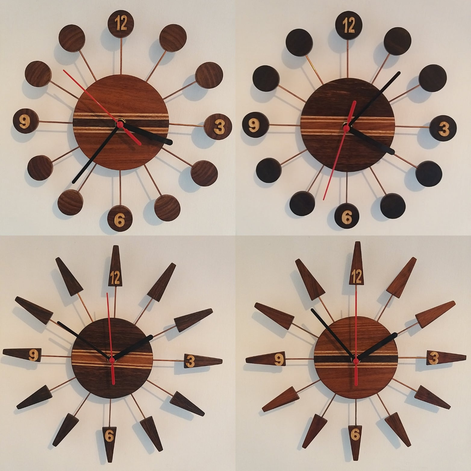 Retro Style Wooden Wall Clock