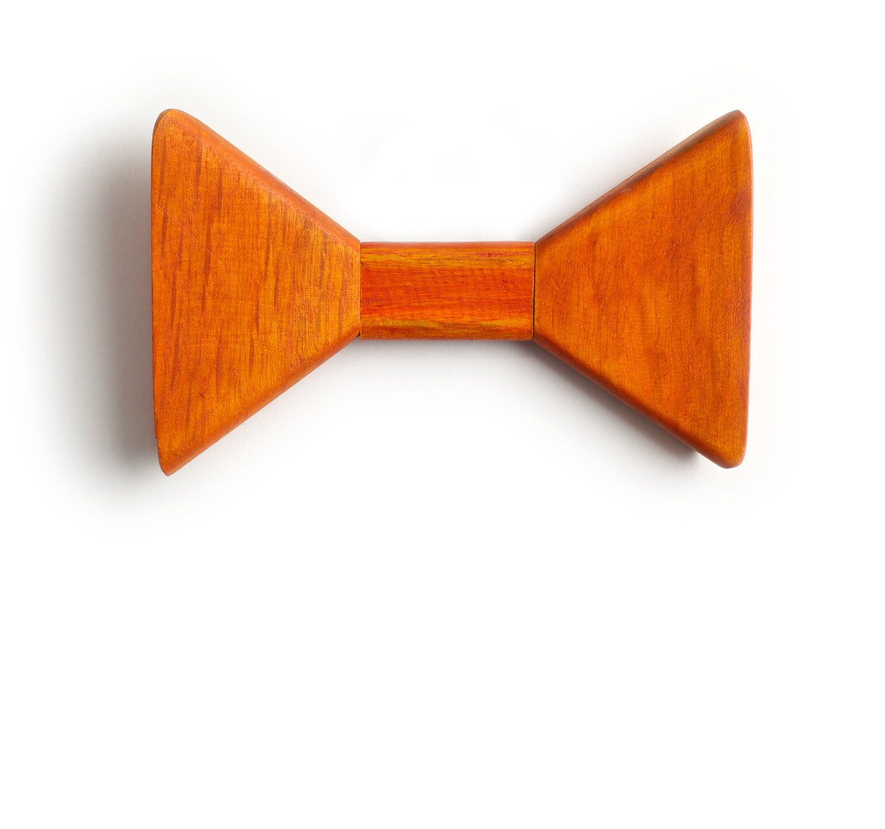 Sharp.c Orange Wooden Bow Tie