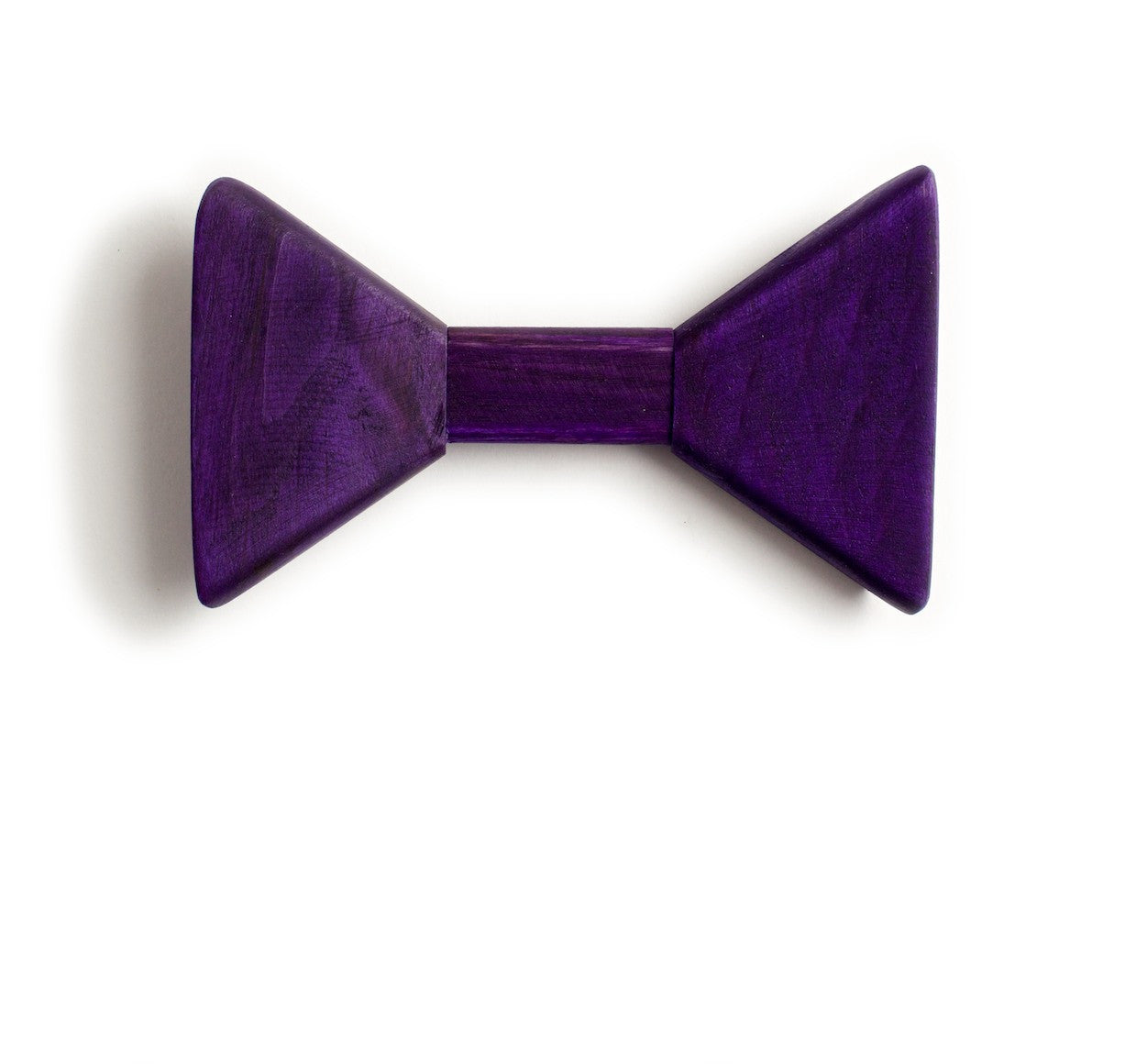 Sharp.c Purple Wooden Bow Tie