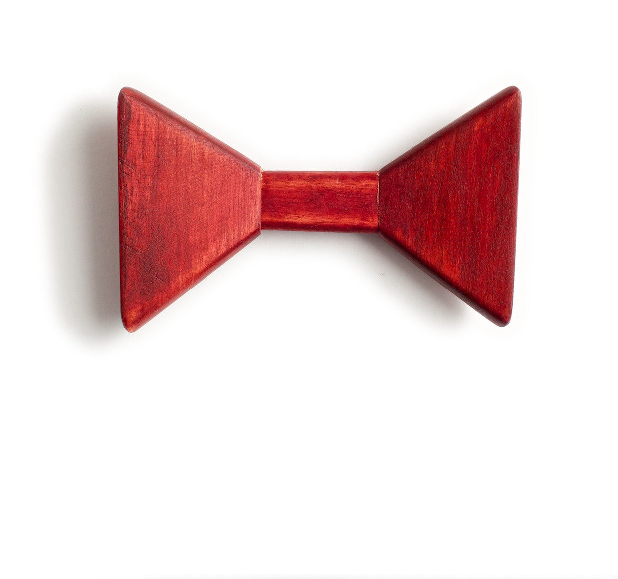 Sharp.c Red Wooden Bow Tie