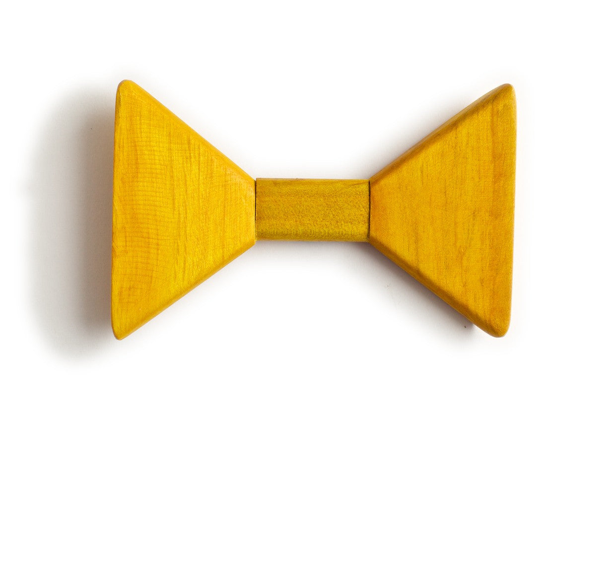 Sharp.c Yellow Wooden Bow Tie