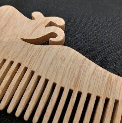 Handmade, Wooden Mermaid Hair Comb Fine tooth or Wide tooth