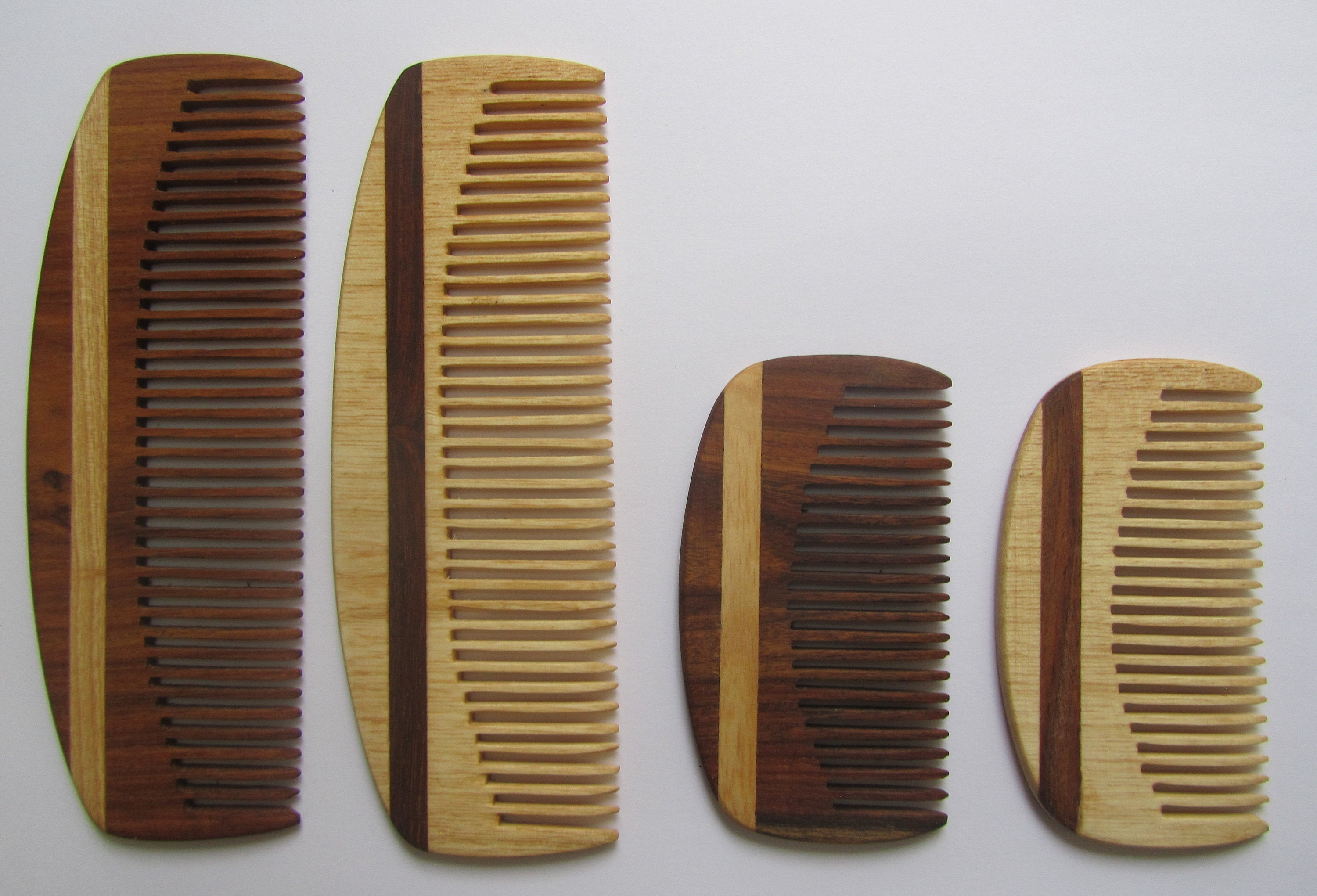 Handmade, Wooden Hair Beard Comb Anti Static Fine tooth or Wide tooth