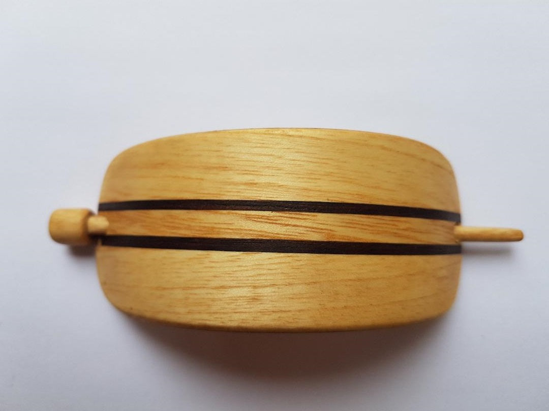 Handmade, Wooden Hair clasp, barrette, pin - Light