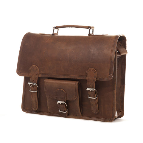 Cordova Distressed Leather Satchel